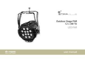 Outdoor Stage PAR 12 3W Tri LED PAR. user manual