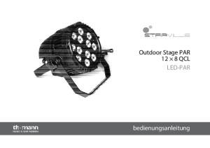 Outdoor Stage PAR 12 8 QCL LED-PAR. bedienungsanleitung