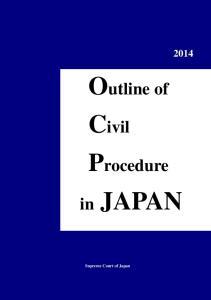 Outline of Civil Procedure. in JAPAN