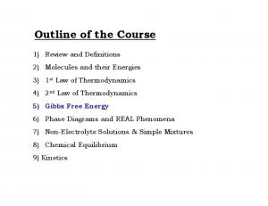 Outline of the Course