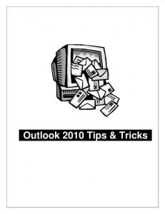 Outlook 2010 Tips & Tricks
