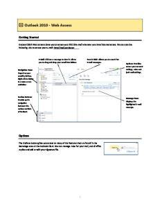 Outlook 2010 Web Access
