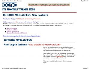 Outlook Web Access New Features