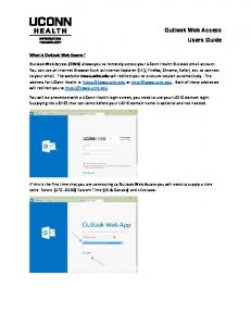 Outlook Web Access Users Guide
