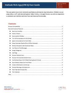 Outlook Web App (OWA) User Guide