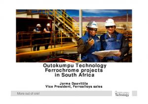 Outokumpu Technology Ferrochrome projects in South Africa
