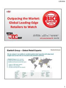 Outpacing the Market: Global Leading-Edge Retailers to Watch