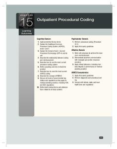 Outpatient Procedural Coding