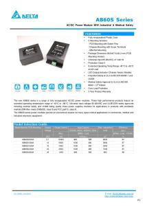Output Current Input Current Max. capacitive 115VAC, 60Hz 230VAC, 50Hz