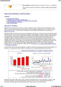 Output format definition in EpiData Analysis