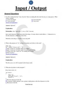 Output. General Questions