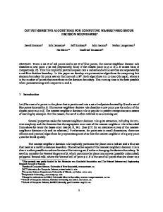 OUTPUT-SENSITIVE ALGORITHMS FOR COMPUTING NEAREST-NEIGHBOUR DECISION BOUNDARIES