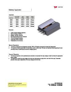 Output Voltage. Output Current