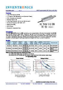 Output Voltage Range. Max. Output Power
