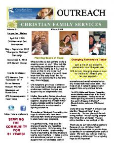 OUTREACH CHRISTIAN FAMILY SERVICES