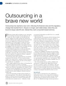 Outsourcing in a brave new world