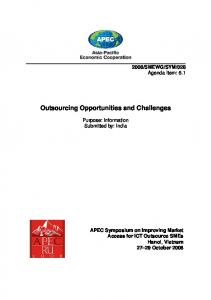 Outsourcing Opportunities and Challenges