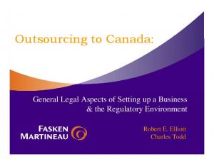Outsourcing to Canada:
