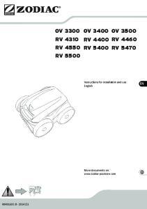 OV 3300 OV 3400 OV 3500 RV 4310 RV 4400 RV 4460 RV 4550 RV 5400 RV 5470