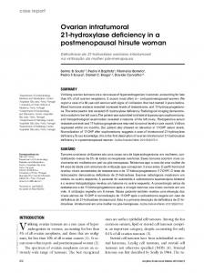 Ovarian intratumoral 21-hydroxylase deficiency in a postmenopausal hirsute woman