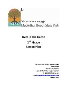 Over In The Ocean 2 nd Grade Lesson Plan