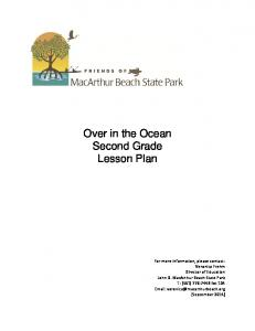 Over in the Ocean Second Grade Lesson Plan