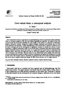 Over-valued ideas: a conceptual analysis