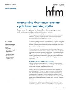 overcoming 4 common revenue cycle benchmarking myths