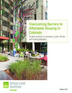 Overcoming Barriers to Affordable Housing in Colorado