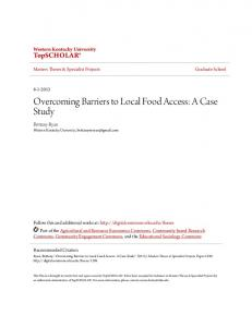 Overcoming Barriers to Local Food Access: A Case Study