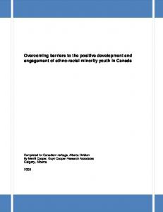 Overcoming barriers to the positive development and engagement of ethno-racial minority youth in Canada