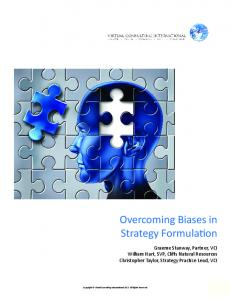 Overcoming Biases in Strategy Formulation
