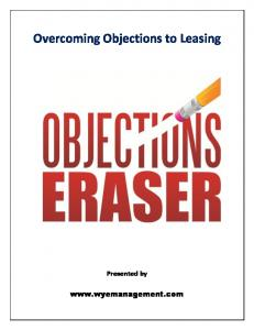 Overcoming Objections to Leasing