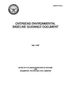 OVERSEAS ENVIRONMENTAL BASELINE GUIDANCE DOCUMENT