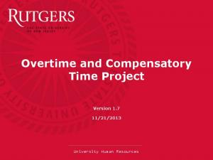 Overtime and Compensatory Time Project
