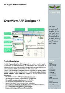 OverView AFP Designer 7