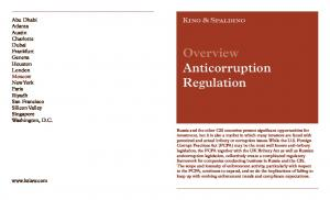 Overview Anticorruption Regulation