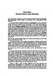 Overview: Breast Cancer and Abortion
