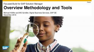 Overview Methodology and Tools