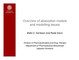 Overview of absorption models and modelling issues