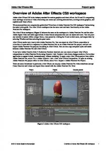 Overview of Adobe After Effects CS5 workspace