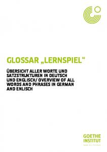 OVERVIEW OF ALL WORDS AND PHRASES IN GERMAN AND ENLISCH