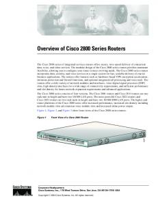 Overview of Cisco 2800 Series Routers