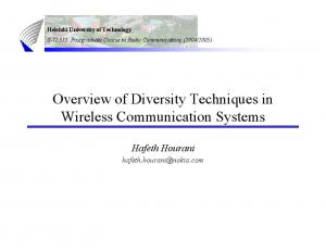 Overview of Diversity Techniques in Wireless Communication Systems