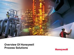 Overview Of Honeywell Process Solutions