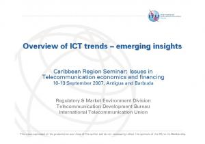 Overview of ICT trends emerging insights