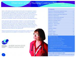 Overview of Key Nursing Contract Provisions