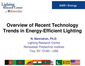 Overview of Recent Technology Trends in Energy-Efficient Lighting