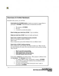 Overview of STARSS Handouts