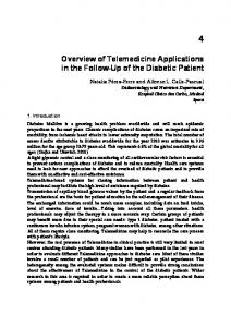 Overview of Telemedicine Applications in the Follow-Up of the Diabetic Patient